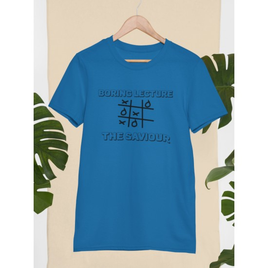 Round Neck - Boring Lecture - Blue