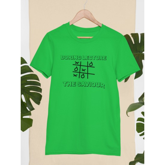 Round Neck - Boring Lecture - Green