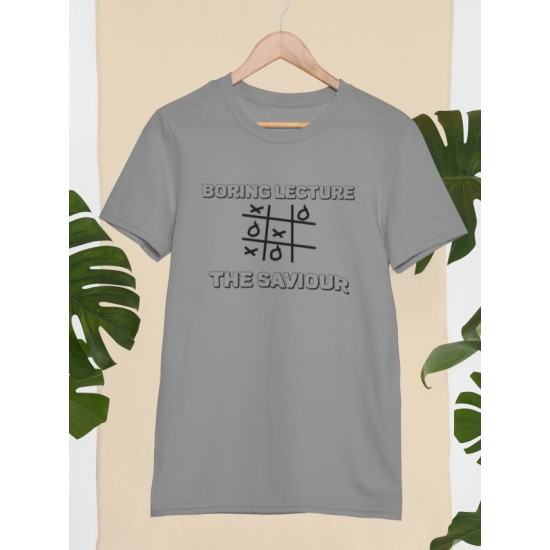 Round Neck - Boring Lecture - Grey