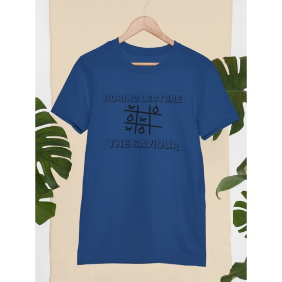 Round Neck - Boring Lecture - Navy Blue