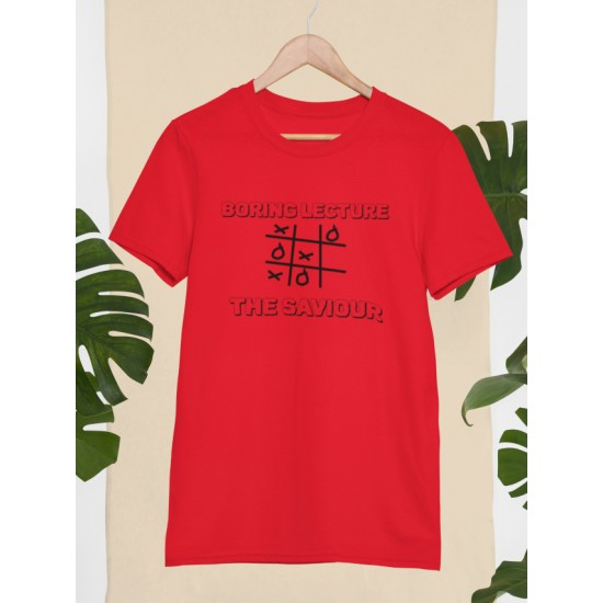 Round Neck - Boring Lecture - Red