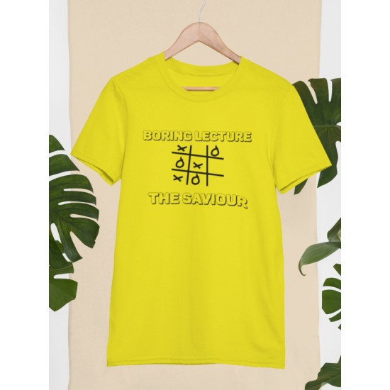 Round Neck - Boring Lecture - Yellow
