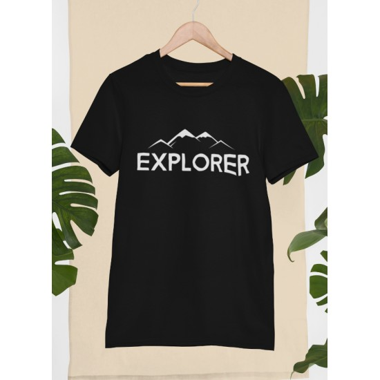 Round Neck - Explorer - Black