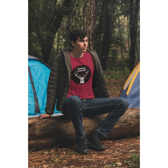Round Neck - Jungle Calling - Maroon
