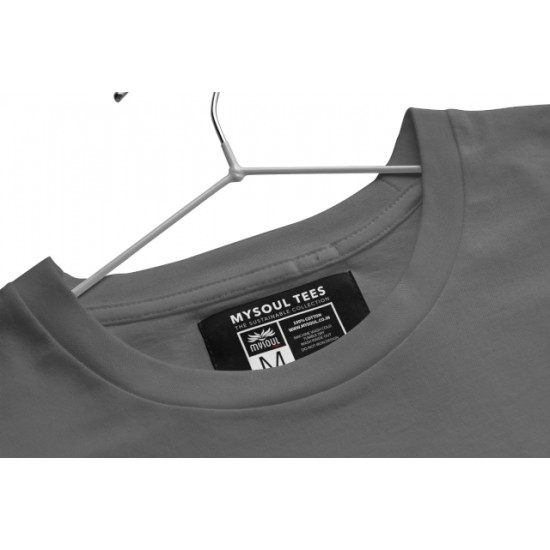 Round Neck - Aaj Gadi Bhai Chalaiga - Grey