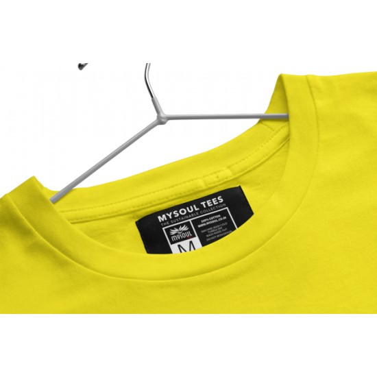 Round Neck - Savdhaani - Yellow