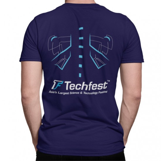 Techfest T Shirt Navy Blue C